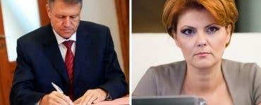 Klaus Iohannis a respins-o din nou pe Olguța Vasilescu la Dezvoltare. Argumentele președintelui