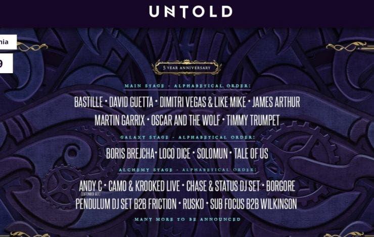Untold 2019: Preţ bilete şi abomanente şi listă de artişti