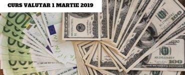 Curs valutar 1 martie 2019: Cotaţiile principalelor valute