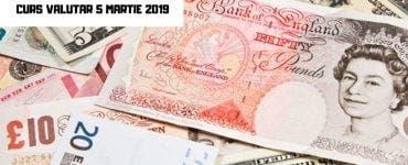 Curs valutar BNR 5 martie 2019 - Cotațiile valutelor