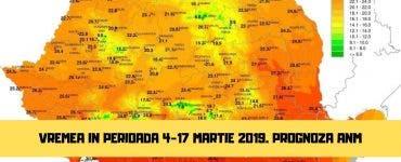 Vremea în perioada 4 - 17 martie 2019. Soare și căldură în următoarele 2 săptămâni