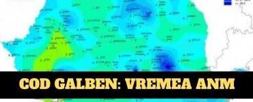 VREMEA: ANM a emis cod galben în 9 judeţe, vineri dimineaţa