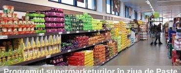 Programul supermarketurilor în ziua de Paşte 2019