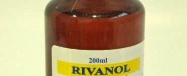Prospect Rivanol. Indicaţii şi contraindicaţii, mod de administrare, precauţii şi reacţii adverse. Antiseptic local, dezinfectant.
