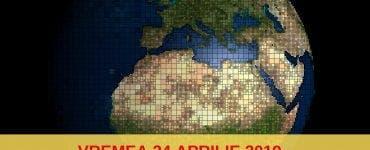 Vremea 24 aprilie 2019. Ploi în vestul şi centrul țării
