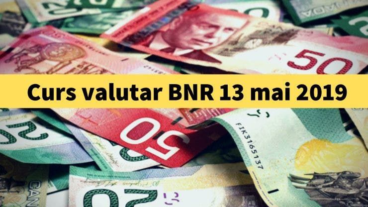 Curs valutar BNR 13 mai 2019. Câți lei costă 1 euro și 1 dolar astăzi