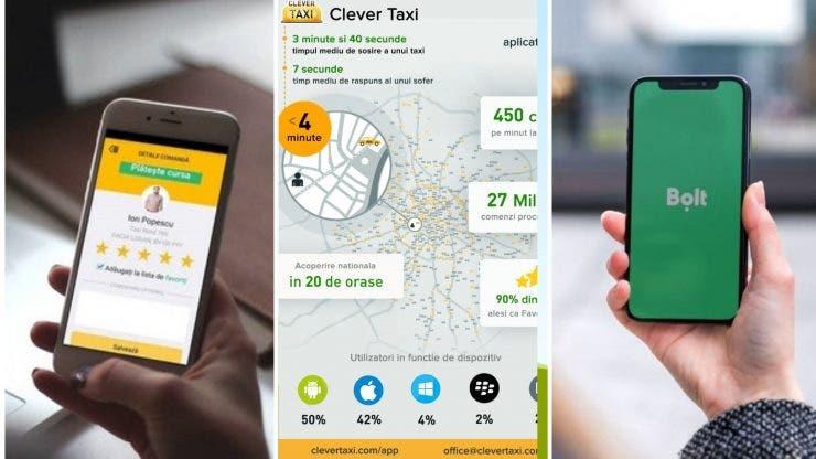 Uber, Bolt și Clever. Cele trei aplicații vor fi interzise