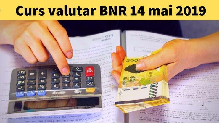 Curs valutar BNR 14 mai 2019. Surpriză de proporții. Câți lei costă un euro