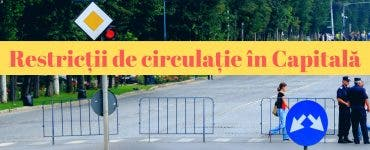 Restricții de circulație în Capitală. Trasee închise și linii suplimentare spre Gara de Nord