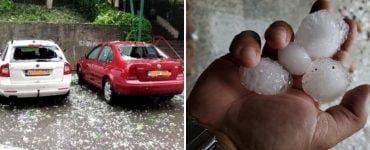 Furtună în Zalău! Mai multe mașini au fost avariate