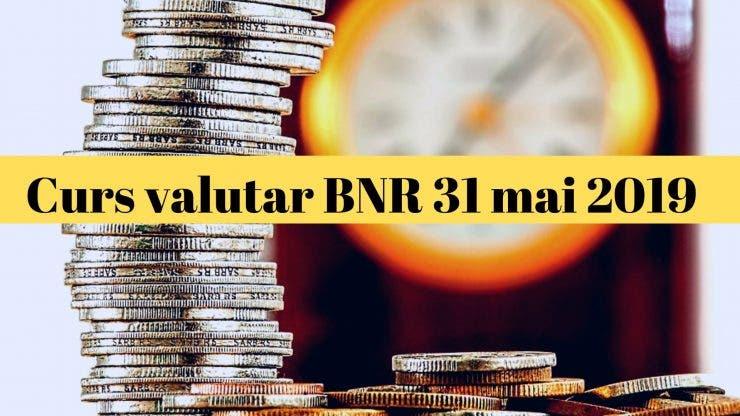 Curs valutar BNR 31 mai 2019. Câți lei costă un euro astăzi