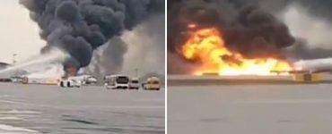 Accident aviatic la Moscova. Un incendiu a izbucnit la bordul unei aeronave. Cel putin 41 de persoane au murit