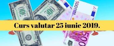 Curs valutar 25 iunie 2019. Ce s-a întâmplat azi cu moneda europeană