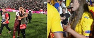 Moment șocant la finalul meciului România-Franța. Iubita unui jucător a fost bătută de un suporter