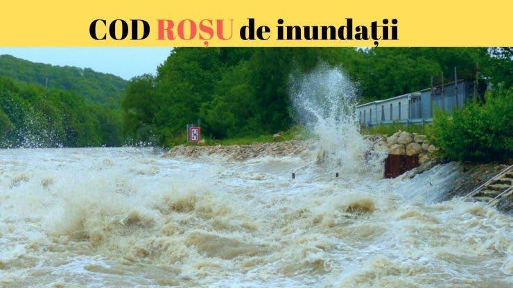 Inundații puternice în Bistrița-Năsăud și Mureș