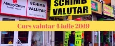Curs valutar 4 iulie 2019. Câți lei costă moneda europeană