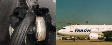 Incident grav pe aeroportul Otopeni. Anvelopa unui avion TAROM a explodat la aterizare