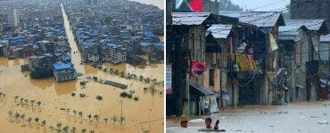 Mii de oameni evacuați și sute de drumuri și case distruse de viituri