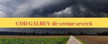 ANM: Avertizare meteo cod galben de vreme severă