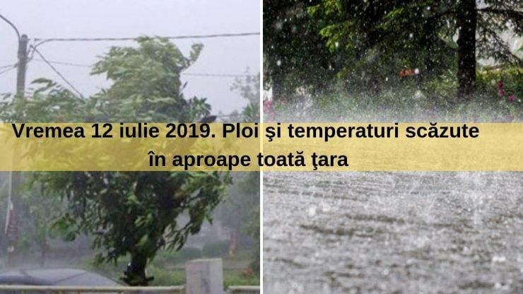 Vremea 12 iulie 2019. Meteorologii anunță furtuni în toată țara