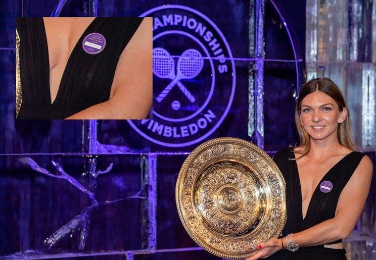 Apariția spectaculoasă a Simonei Halep la Balul Campionilor de la Wimbledon. Sportiva a purtat un decolteu adânc și toți au fost surprinși să vadă că...