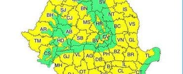 Atenționare meteorologică COD GALBEN de vreme instabilă