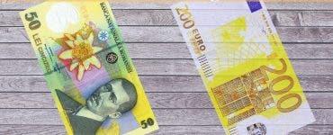 Curs valutar 12 august 2019. Câți lei costă 1 euro la început de săptămână