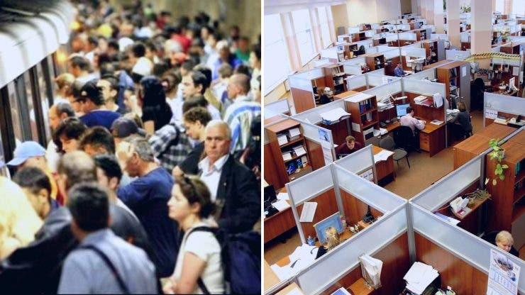Un studiu arată că angajații din București fac, în medie, 46 de minute până la locul de muncă