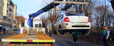 Când se va începe ridicarea mașinilor parcate neregulamentar?