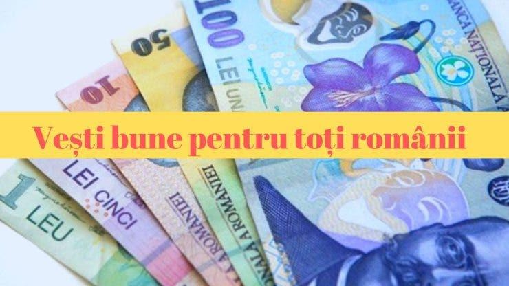 Luna septembrie vine cu vești bune pentru toți românii
