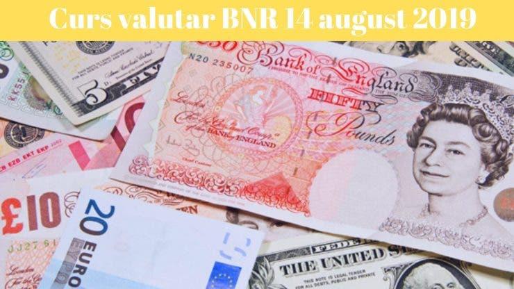 Curs valutar BNR 14 august 2019. Ce se va întâmpla cu lira sterlină