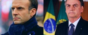 Reacția lui Emanuel Macron după ce președintele Braziliei i-a jignit soția
