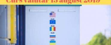 Curs valutar 13 august 2019. Câți lei costă un euro astăzi