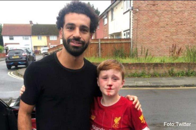 Mohamed Salah, erou pentru doi puşti