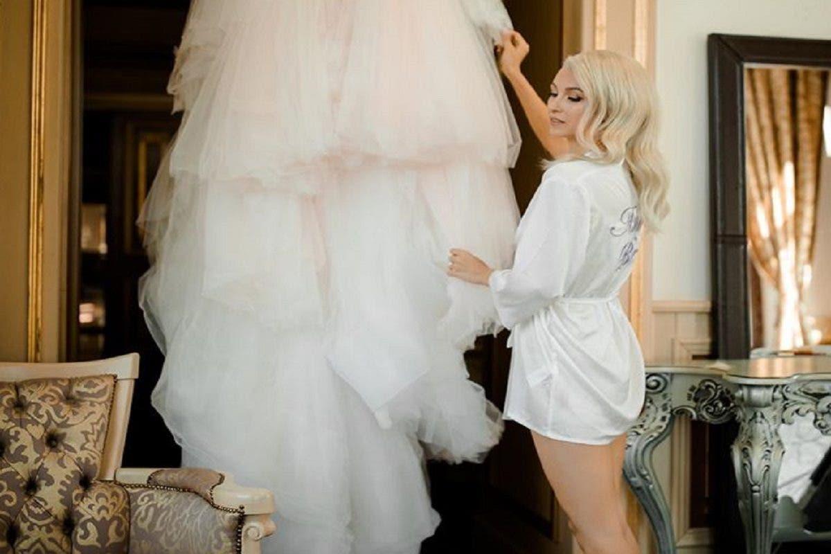 Prima imagine cu Andreea Bălan în rochie de mireasă. Care e mesajul transmis lui George?