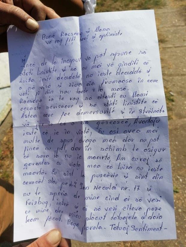 Scrisoarea șocantă primită de mama Luizei Melencu