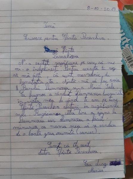 Scrisoarea cu care un copil din Iași a șocat România