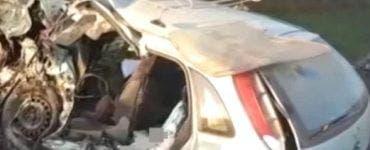 Accident grav în Harghita. Doi oameni au murit după ce au intrat cu mașina în peretele unei case