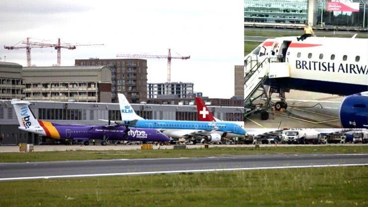 Un aeroport din Londra și-a oprit activitatea din cauza activiștilor. Unul dintre ei s-a urcat pe avion