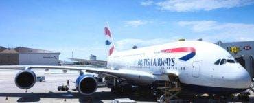 Un avion British Airways, a aterizat de urgență în Elveția
