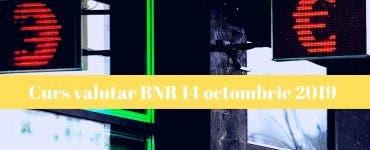 Curs valutar BNR 14 octombrie 2019. Câți lei costă un euro astăzi