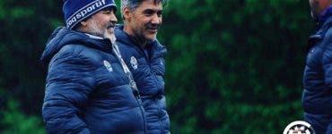 Maradona a adus un preot la stadion