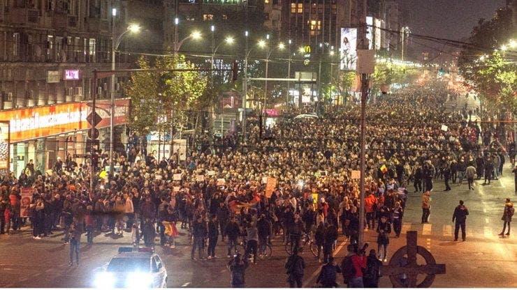 Anunț important de la Brigada Rutieră cu privire la marșul Colectiv de miercuri seară