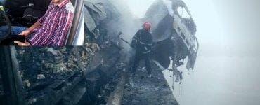 Șoferul TIR-ului care a lovit un cap de pod apoi a luat foc, a fost proiectat în râul Olt în urma impactului