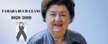 Tamara Buciuceanu va fi înmormântată astăzi la Biserica Sfânta Vineri din Capitală