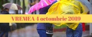 Prognoza meteo pentru vineri, 4 octombrie 2019