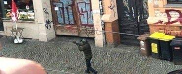 Momentul atacului de la Halle transmis live pe internet de către suspect