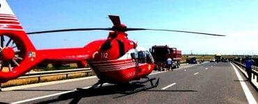 Accident grav în Arad! A fost nevoie de intervenția SMURD cu elicopterul