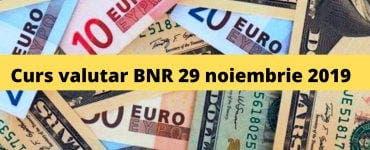 Curs valutar BNR 29 noiembrie 2019. Ce se întâmplă cu moneda europeană