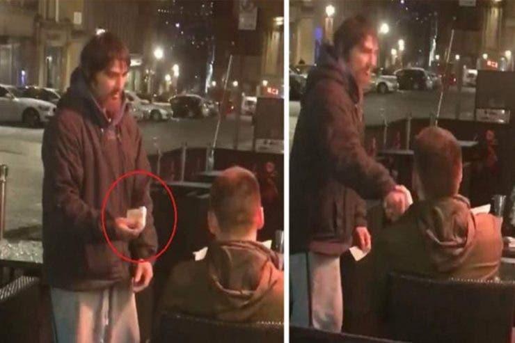 Uimitor! Ce a făcut un cerșetor după ce a primit cardul și pinul de la un om care a vrut să-l ajute